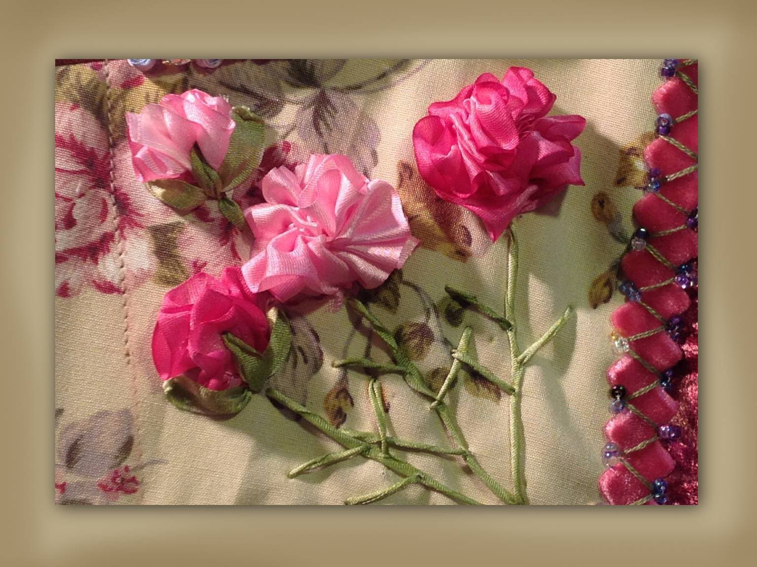 How To Make Silk Ribbon Embroidered Carnation Flowers Fake Flower