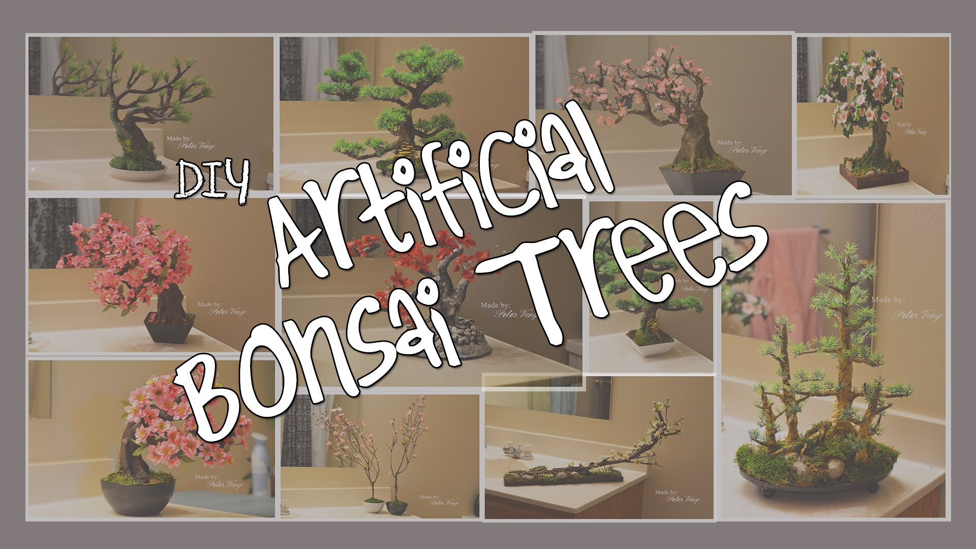 Artificial Bonsai Cherry Blossom Tutorial Fake Flower