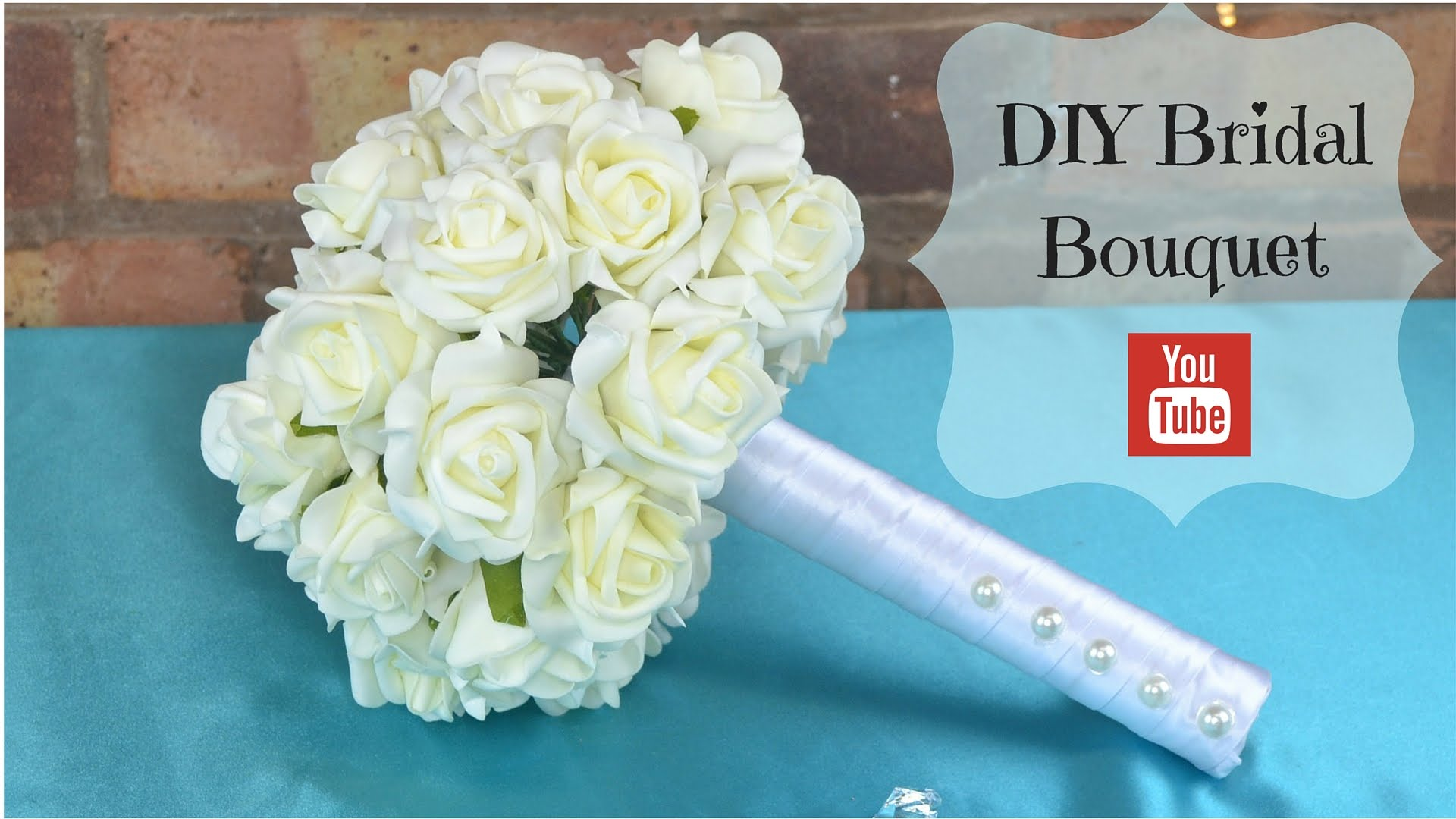 Diy bridal bouquet how to create your own bridal wedding flowers diy bridal bouquet how to create your own bridal wedding flowers bouquet using foam flowers fake flower arrangements fake flower arrangements izmirmasajfo